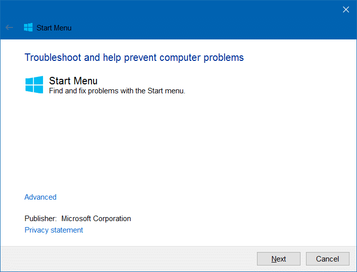 Windows 10 Start menu repair tool (2)