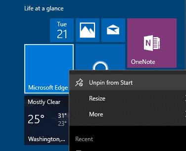 blank Start menu tiles Windows 10 pic3