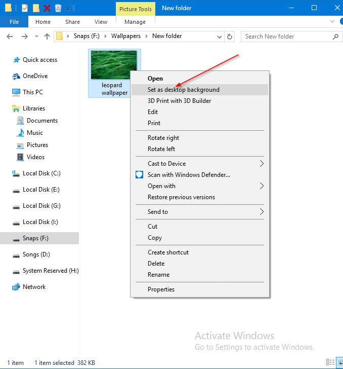 how to change wallpaper windows 10