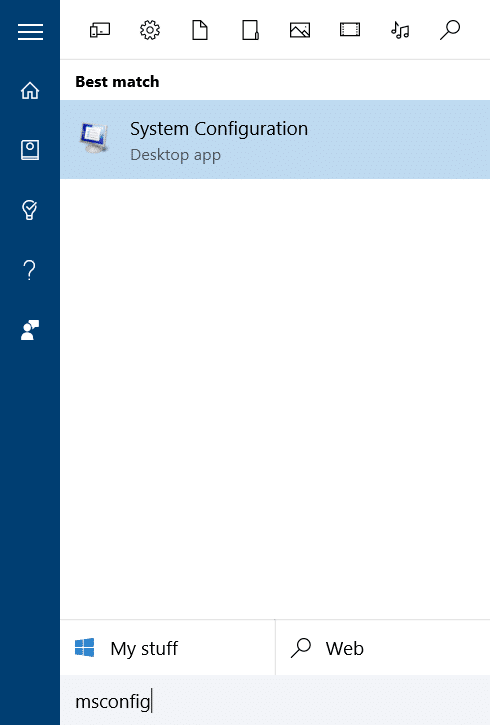 change default operating system in Windows 10 step1