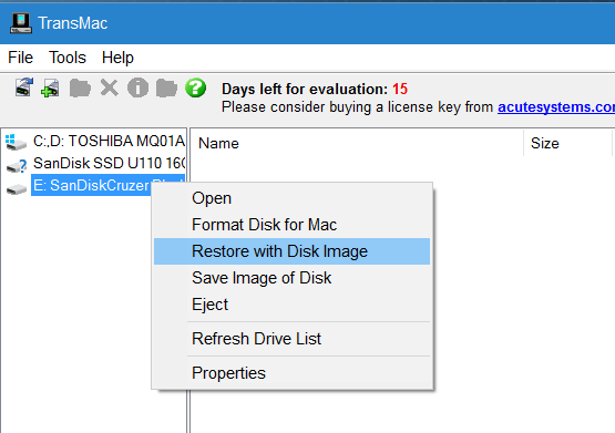 create macos sierra bootable usb from Windows step5