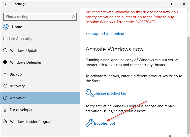 link Windows 10 license to microsoft account pic1