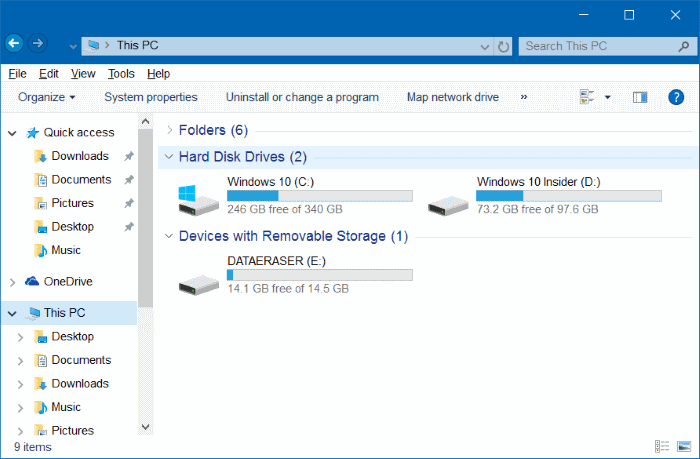 make Windows 10 File Explorer Look Like Windows 7 pic4