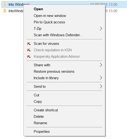 pin to start option missing in Windows 10