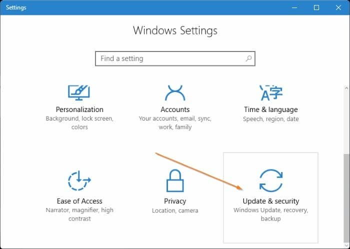 4 ways to open advanced startup options Windows 10 pic2
