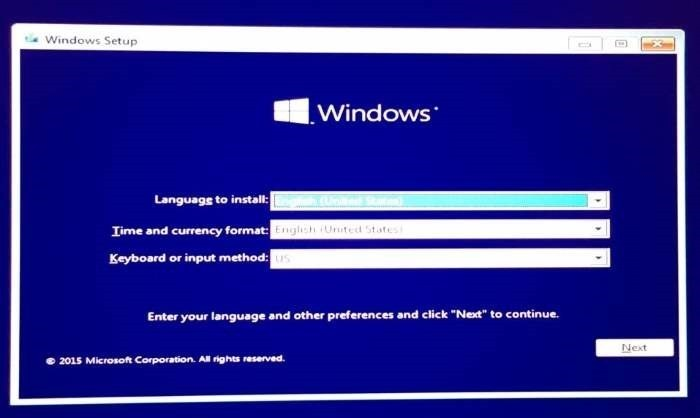 Boot Windows 10 in safe mode when not booting step1