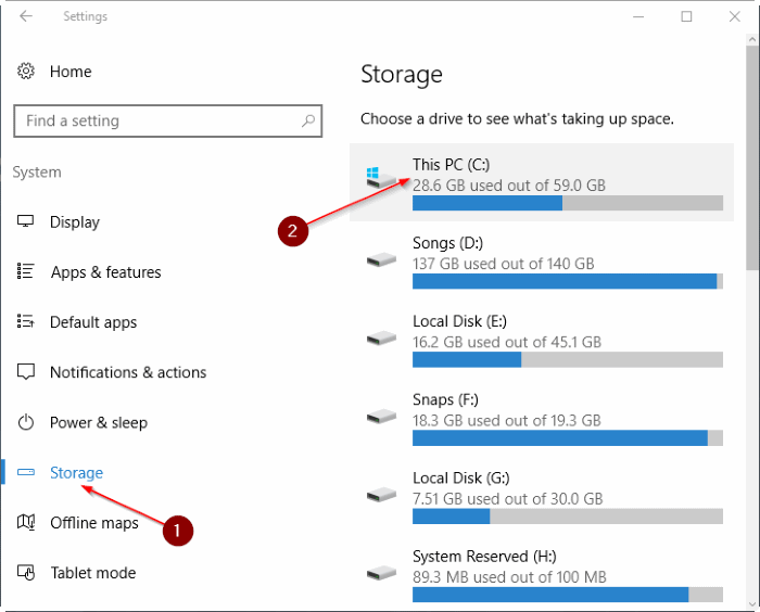 Safely delete temporary files in Windows 10 step3