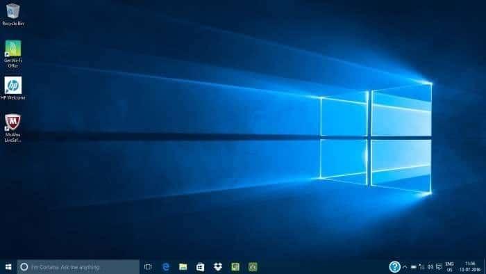 Set up Windows 10 pic last