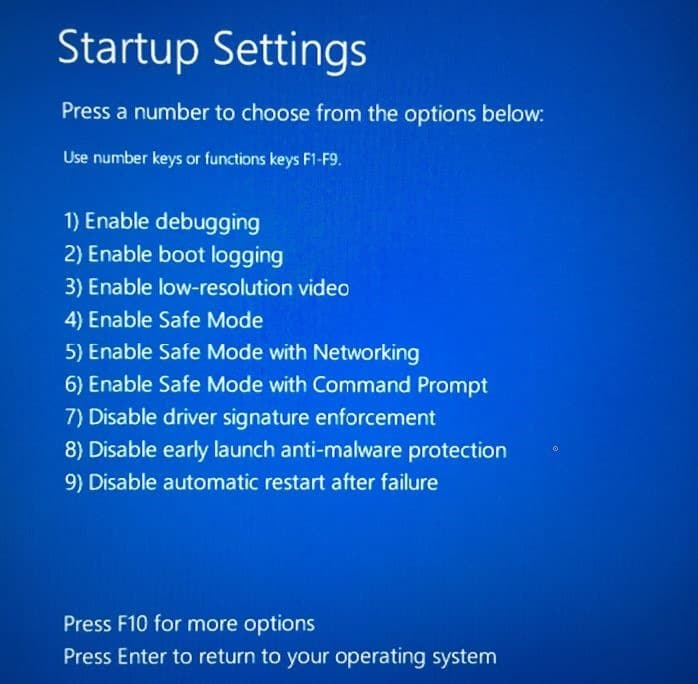 Start Windows 10 in safe mode pic5