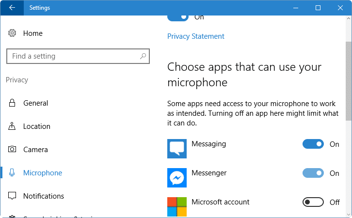 change app permissions in Windows 10 pic4
