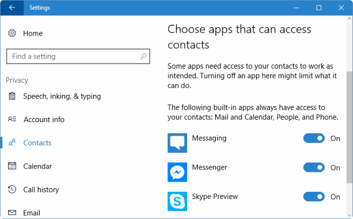 change app permissions in Windows 10 pic5