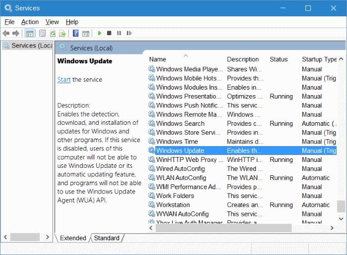 clear Windows Update cache in Windows 10 step2