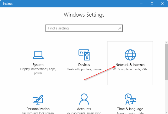 create mobile hotspot in Windows 10 pic2