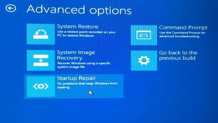 open advanced startup options on unbootable Windows 10 PC step5