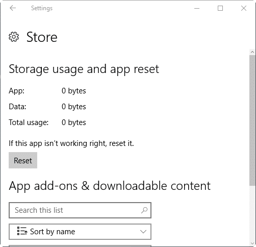 reset Windows 10 Store pic2