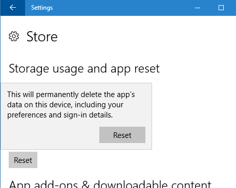 reset Windows 10 Store pic3
