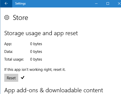how to clear cache in windows 10 store