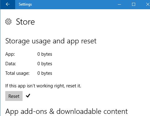 reset Windows 10 Store pic4