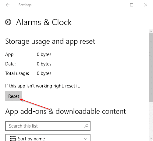 reset Windows 10 apps pic4