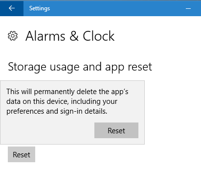 reset Windows 10 apps pic5