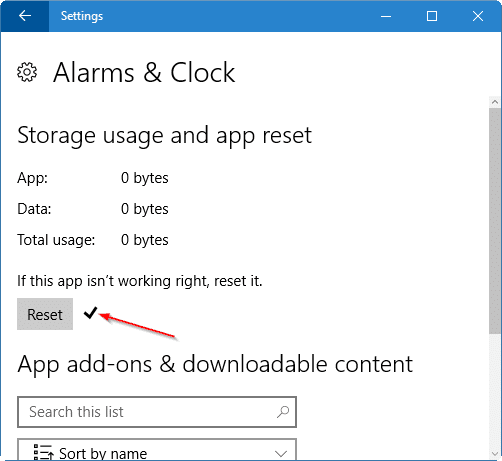 reset Windows 10 apps pic6