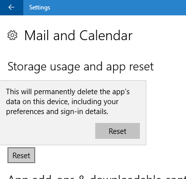 windows 10 mail app not syncing