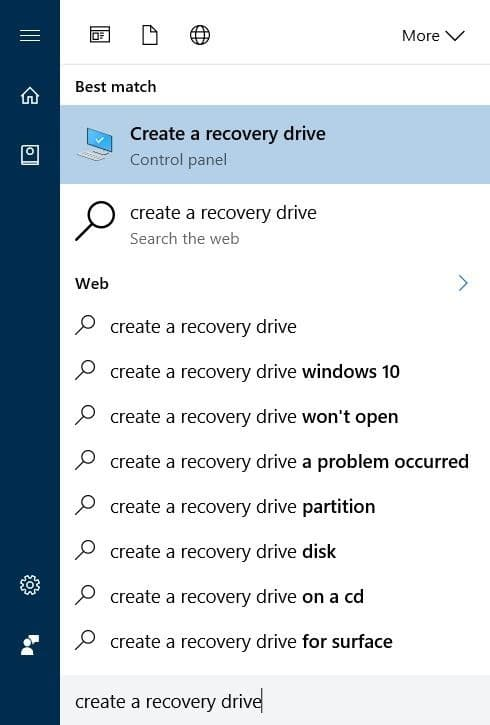Delete recovery partition in Windows 10 step1