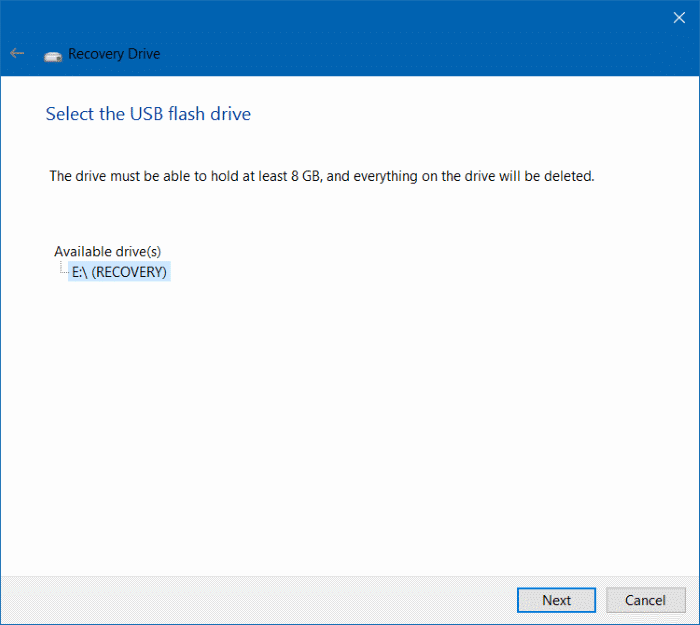 Delete recovery partition in Windows 10 step4