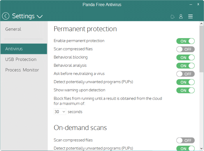 Panda Free antivirus for Windows 10 pic3