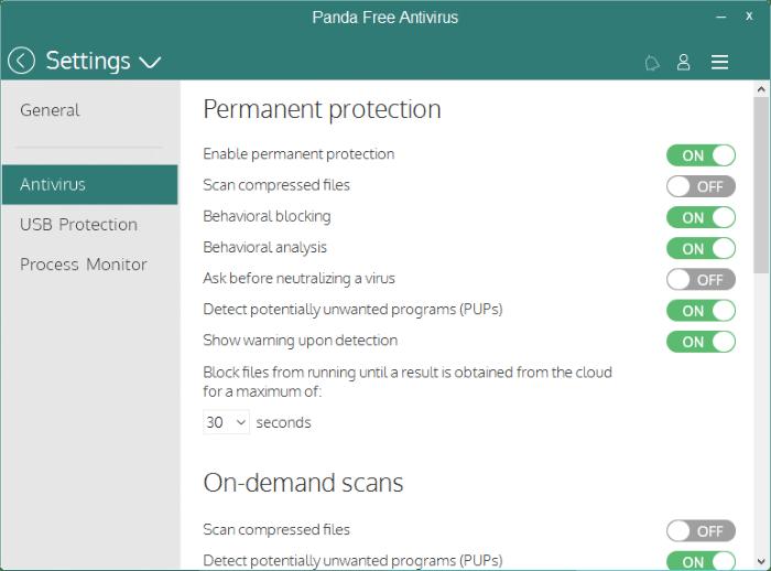 Panda Free antivirus for Windows 10 pic3