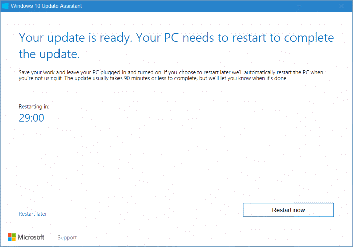 Windows 10 Update Assistant pic9