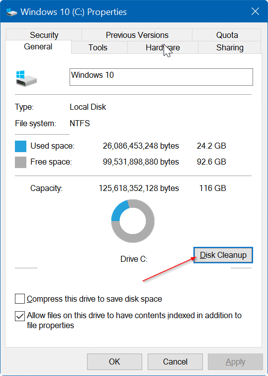 how to delete windows.old win 10
