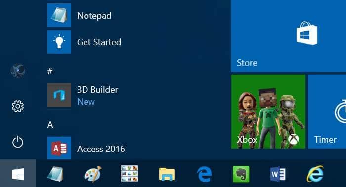 file explorer icon missing from Start menu Windows 10 pic1