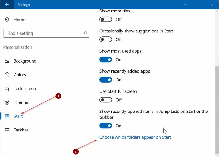 file explorer icon missing from Start menu Windows 10 pic3