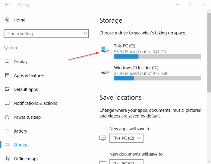 free up disk space after Windows 10 anniversary update pic1