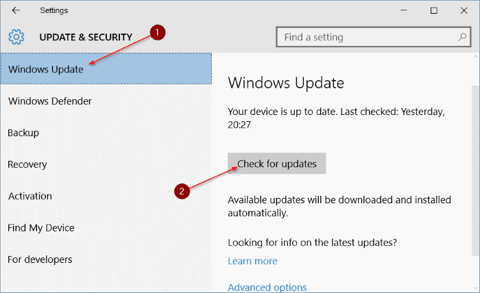 install Windows 10 Anniversary Update pic1
