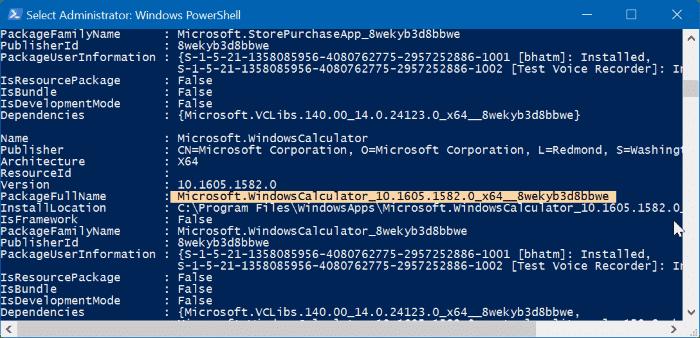 reset or reinstall Calculator in Windows 10 step5