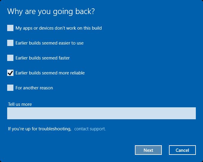 uninstall Windows 10 Anniversary Update pic2