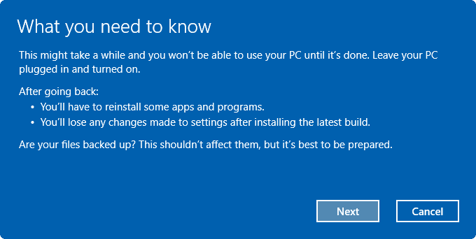 uninstall Windows 10 Anniversary Update pic4