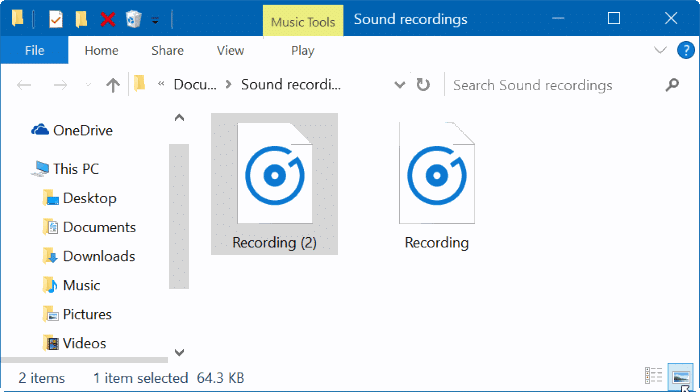 where are voice recorder recordings saved in Windows 10 pic4