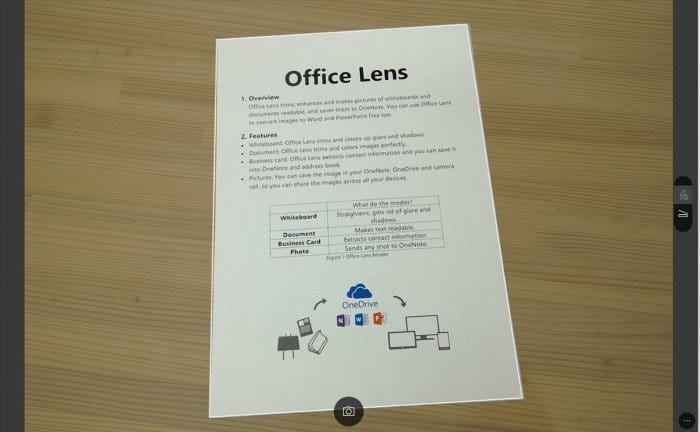 Office Lens is Camscanner for Windows 10 pic01