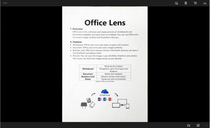 Office Lens is Camscanner for Windows 10 pic02