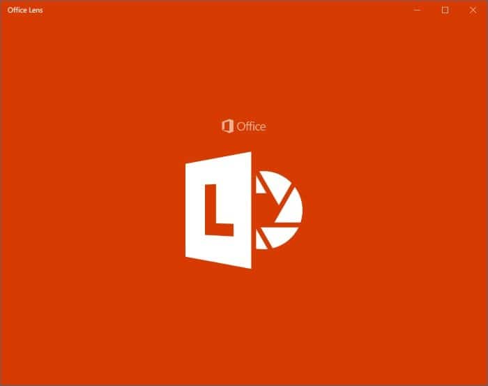 Office Lens is Camscanner for Windows 10