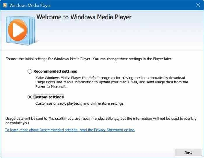 Media player windows