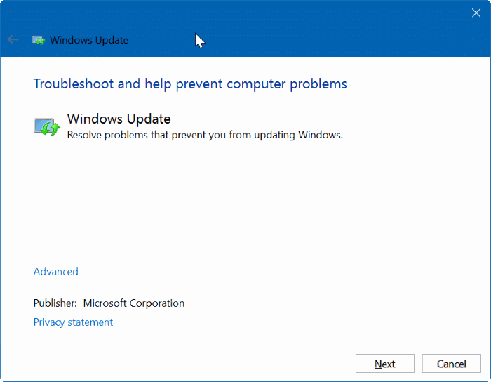 Windows Update stuck downloading updates Windows 10 pic1