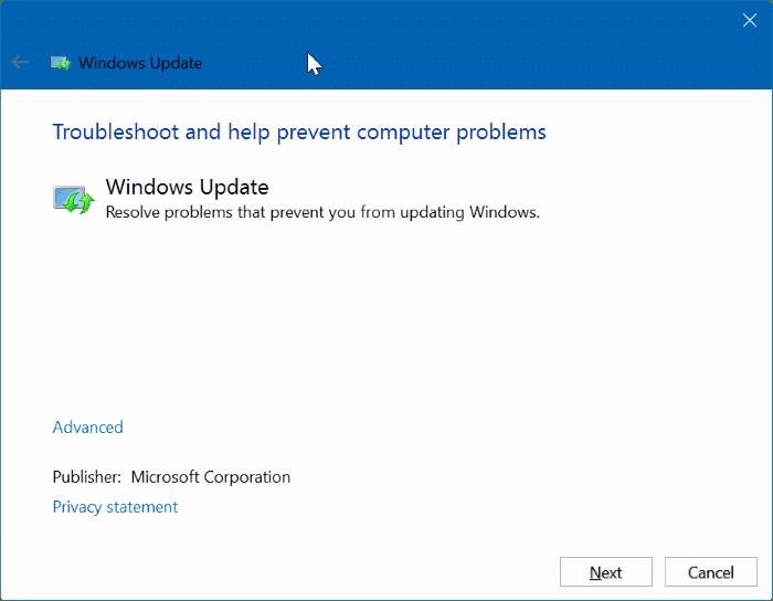 installing update stuck
