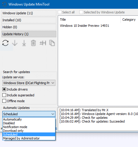 Windows Update MiniTool: Alternative To Windows Update In Windows 10