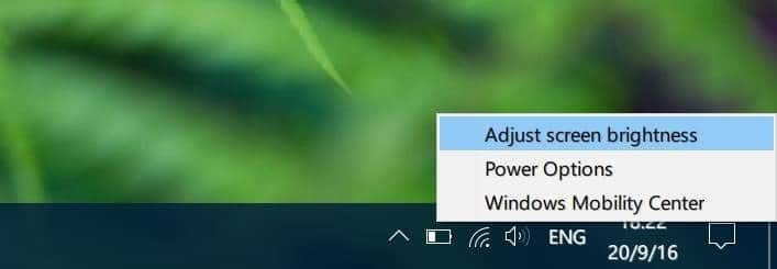 adjust screen brightness in Windows 10 pic3