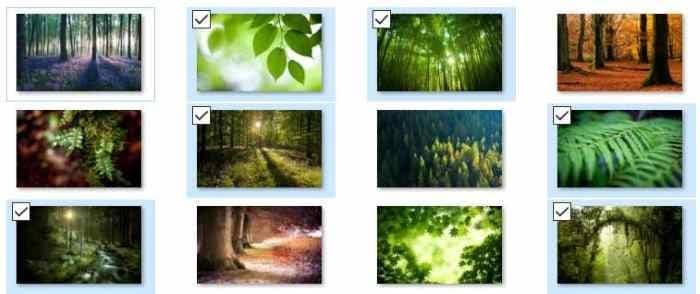 Choose Individual Wallpapers In A Theme In Windows 10