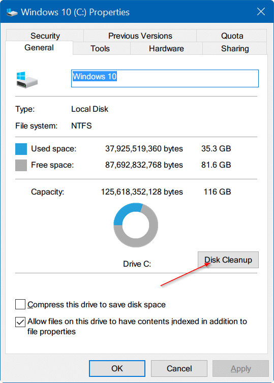 how to delete temporary files windows 10 home